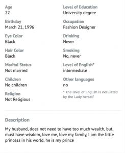 Asiacharm Profile info