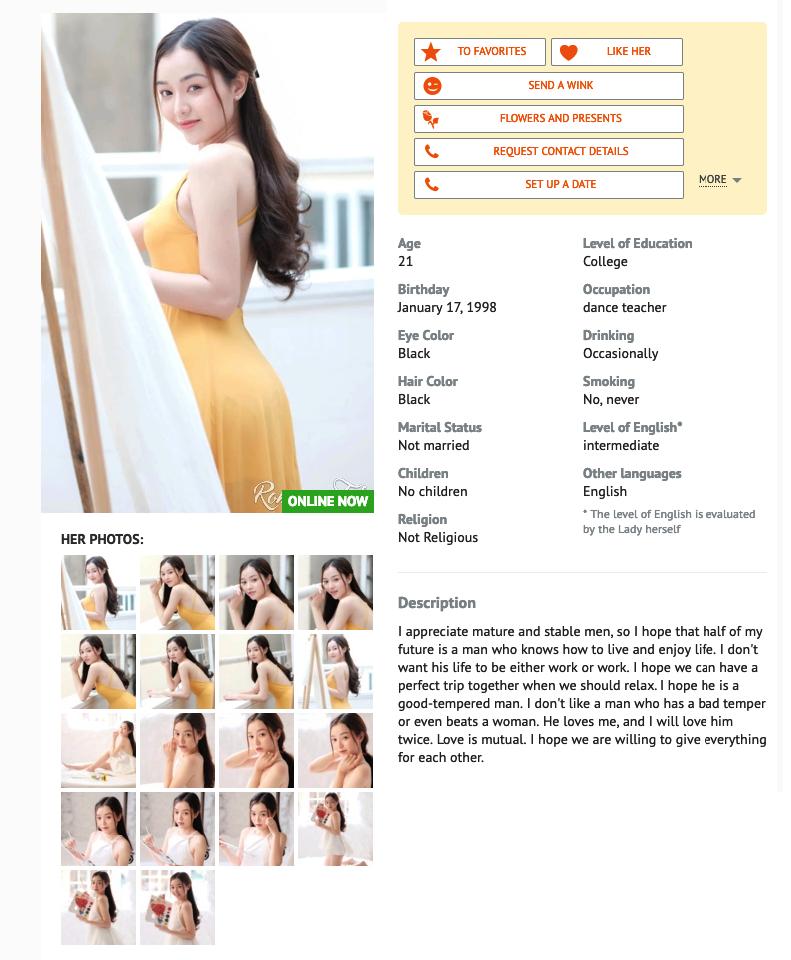 Romance tale Profiles quality