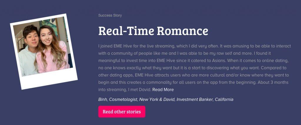EastMeetEast real time romance