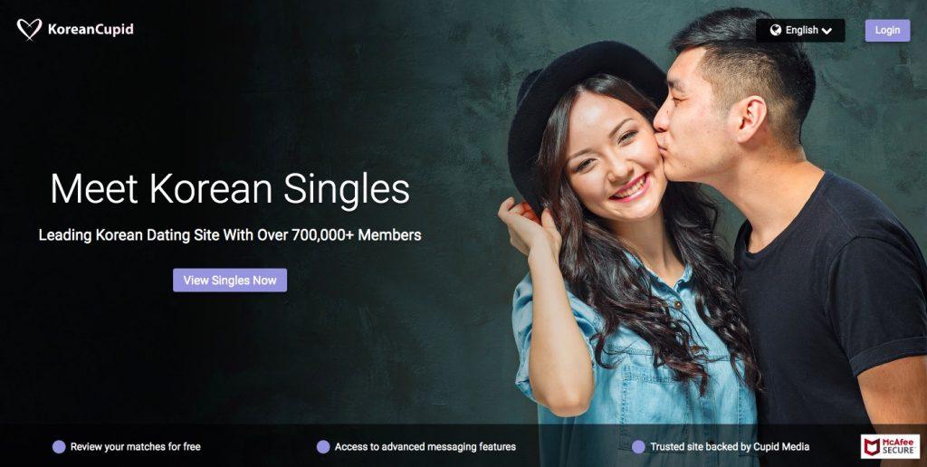 KoreanCupid main page