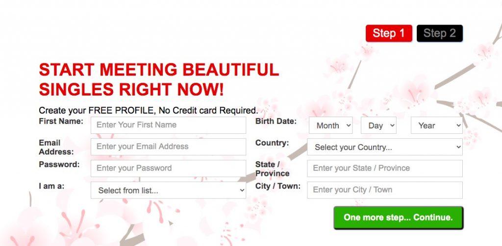 blossoms.com create account