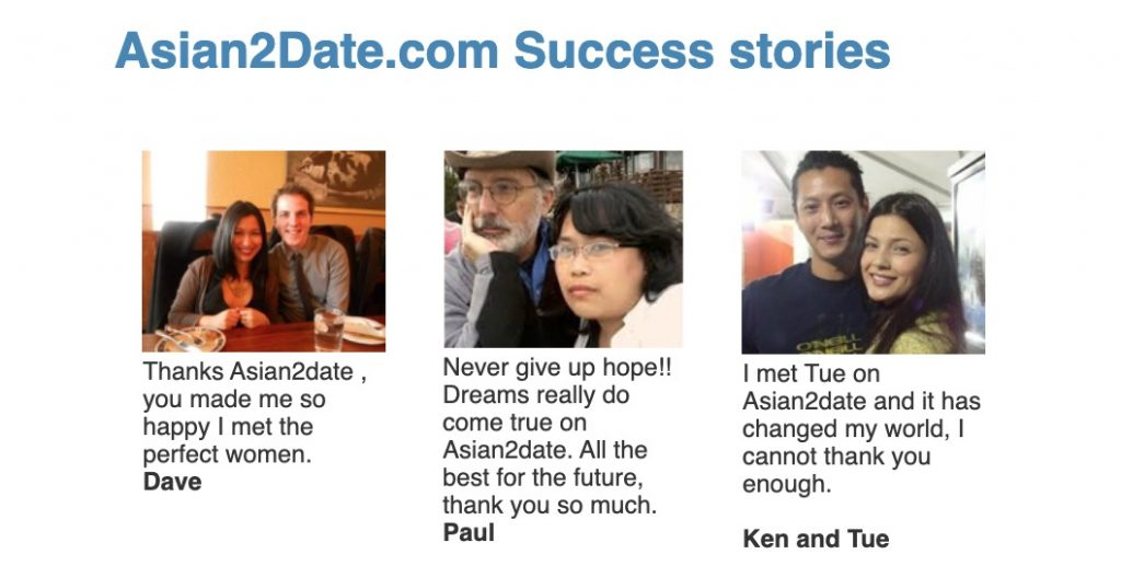 Asian2Date success stories